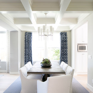 Inspiration For A Beach Style Light Wood Floor Dining Room Remodel In San  Diego