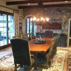 Mediterranean Dining Room by Period Homes, Inc.