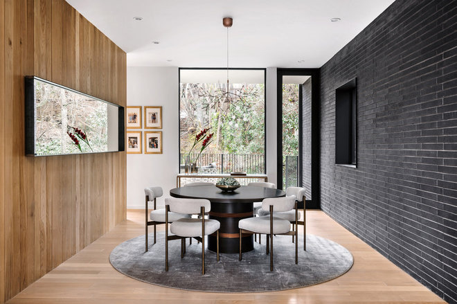Contemporary Dining Room by Jay Corder, Architect