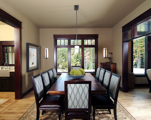 Stained wood trim houzz for Painting trim darker than walls