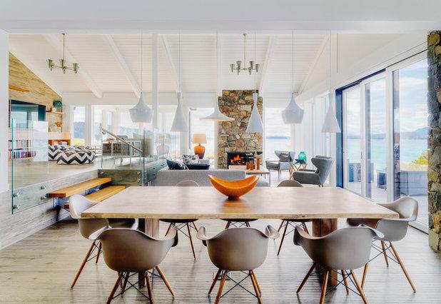 Coastal Dining Room by Johnson + McLeod Design Consultants
