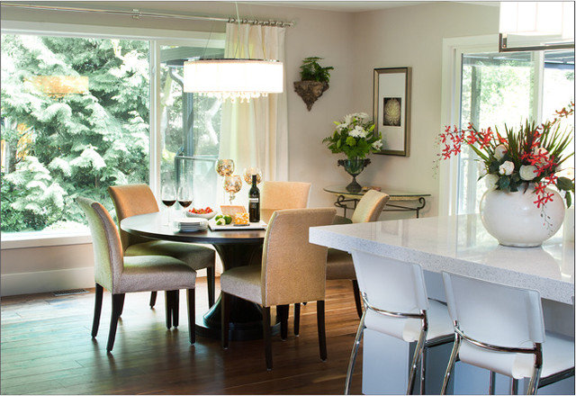Contemporary Dining Room by P. Rogers Designs.com