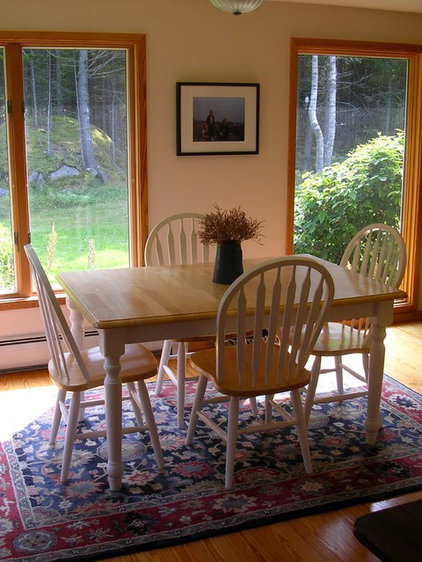 Traditional Dining Room Penobscot Bay Cottage