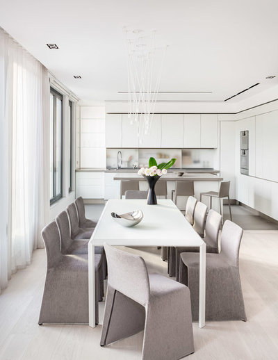Contemporary Dining Room by KNOF design