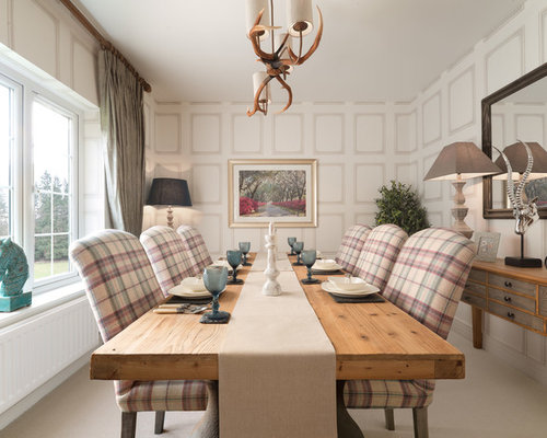 Transitional Dining Room Idea In London