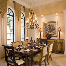 Mediterranean Dining Room by Peregrine Homes