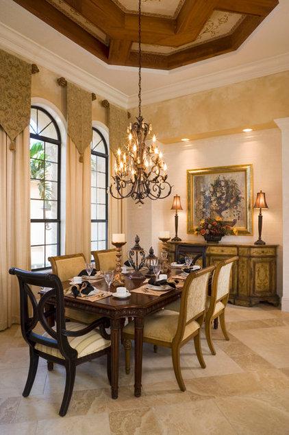 Mediterranean Dining Room by Peregrine Homes
