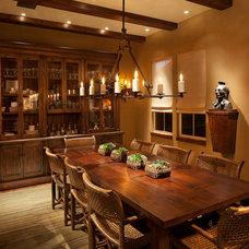 Rustic Dining Room by Michael Merrill Design Studio, Inc