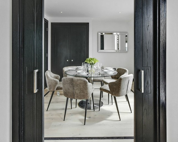 Contemporary Dining Room by London International Realty