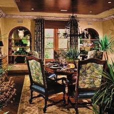 Mediterranean Dining Room by Interior Art