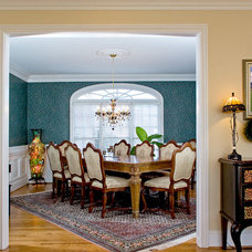 Traditional Dining Room by Triad Real Estate Photography