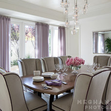 Contemporary Dining Room by Meghan bob Photography