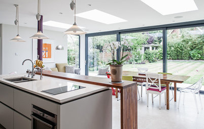 Room of the Day: New Kitchen-Living Area Gives Family Together Time
