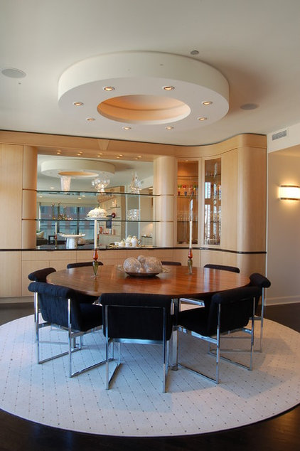 Contemporary Dining Room by B. W. Interiors Chicago