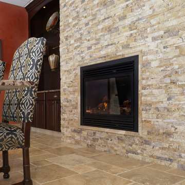 Picasso Ledger Stone Fireplace