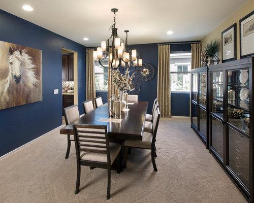 Navy dining room design ideas remodels photos with blue for Navy dining room ideas
