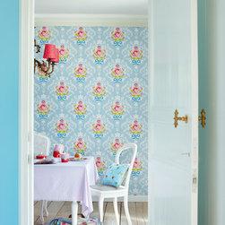 Pip designer wallpaper by Eijffinger - A designer wallpaper collection from Eijffinger full of vintage romance, lush florals, vivid colors and birds.