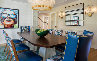 Pixelated Artwork Inspires a Picture-Perfect Dining Room