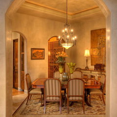 mediterranean dining room by Sterling Custom Homes