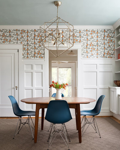 Midcentury Dining Room By Arlington Home Interiors
