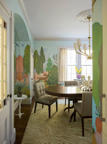 Eclectic Dining Room by Heidi Pribell Interiors