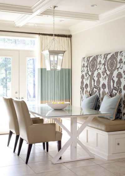 Transitional Dining Room by Tobi Fairley Interior Design