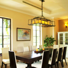 Tropical Dining Room by Galilee Lighting