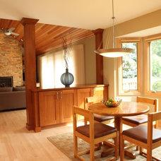 Contemporary Dining Room by Knight Construction Design   Chanhassen, Minnesota