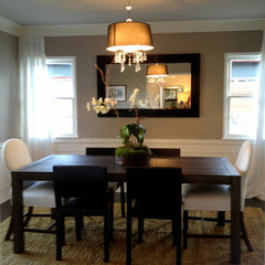 contemporary dining room by The Property Sisters