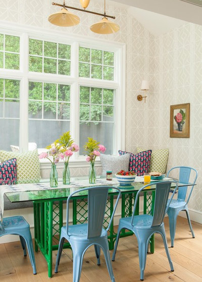 Farmhouse Dining Room by Alison Kandler Interior Design