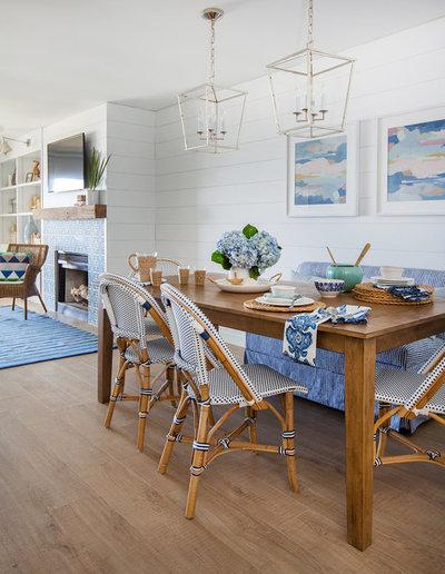 Coastal Dining Room by Lauren Leonard Interiors