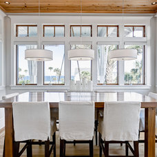 Beach Style Dining Room by Beach Chic Design