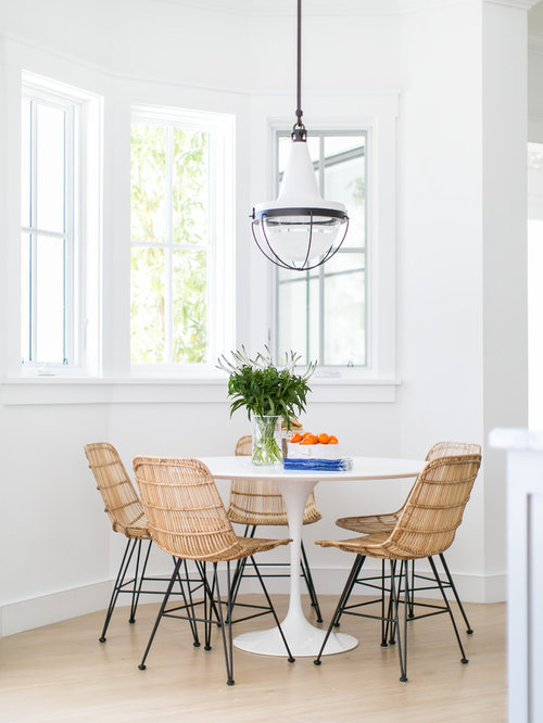 Example Of A Transitional Light Wood Floor And Beige Floor Dining Room  Design In Orange County