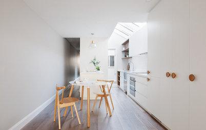 Vorher-Nachher: Eine kleine, dunkle Küche wird hell und licht