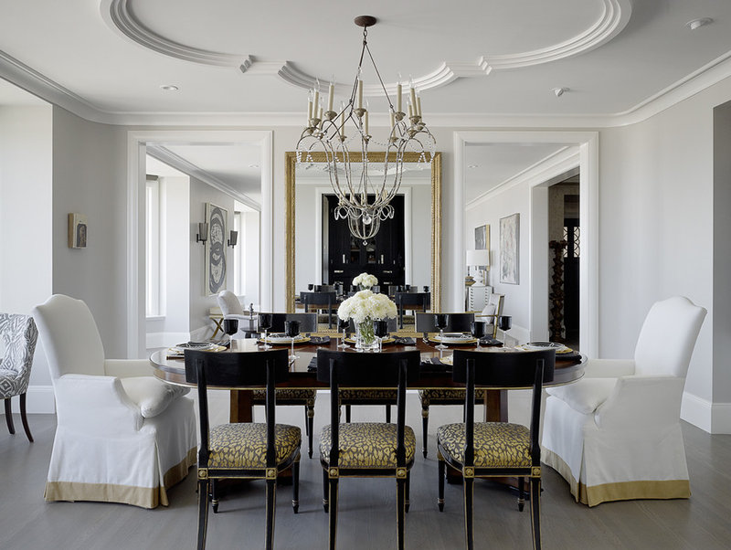 Traditional Dining Room by Candace Cavanaugh Interiors