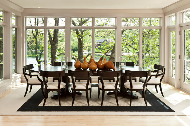 Contemporary Dining Room by Edmunds Studios Photography, Inc.