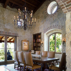 Mediterranean Dining Room by gail owens photography