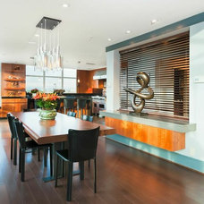 Contemporary Dining Room by Ilona Berzups Photography