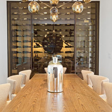 Contemporary Dining Room by Joseph Schell Photography
