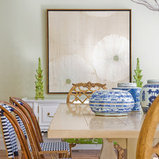 Eclectic Dining Room by Katie Rosenfeld Design
