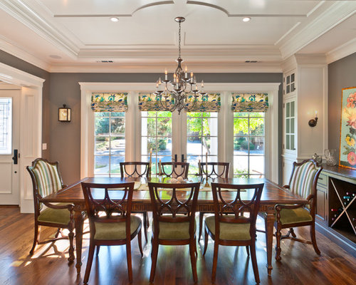 Dining room window treatments houzz for Dining room window designs