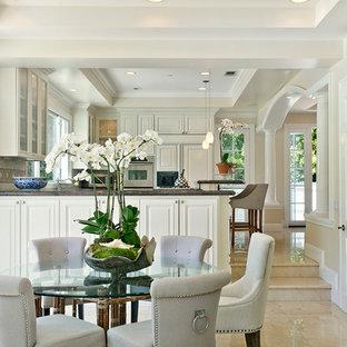 Elegant great room photo in Orange County with beige walls