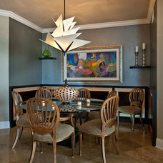Contemporary Dining Room by Touche' Design Studio