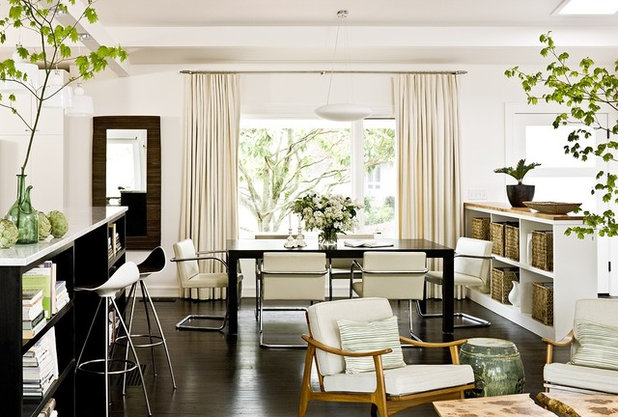 Transitional Dining Room by The Works