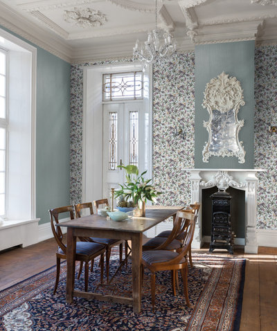 Eclectic Dining Room by Resene