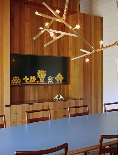 Midcentury Dining Room by The Office of Charles de Lisle