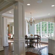 Traditional Dining Room Potomac, MD Brick Ranch Home to Nantucket Style