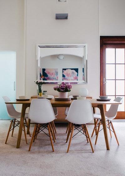 Transitional Dining Room by Emma Blomfield