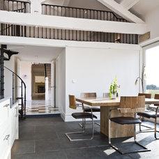 Farmhouse Dining Room by Turner Builders Ltd
