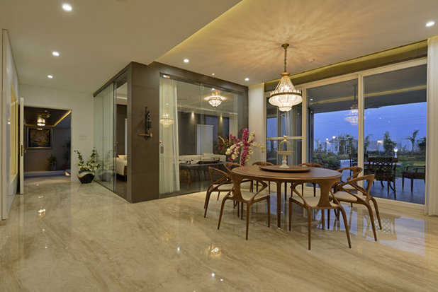 Contemporary Dining Room by Prashant Bhat Photography